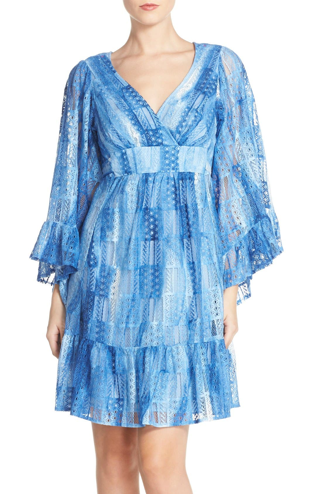 Main Image - Betsey Johnson Cotton Blend Babydoll Dress