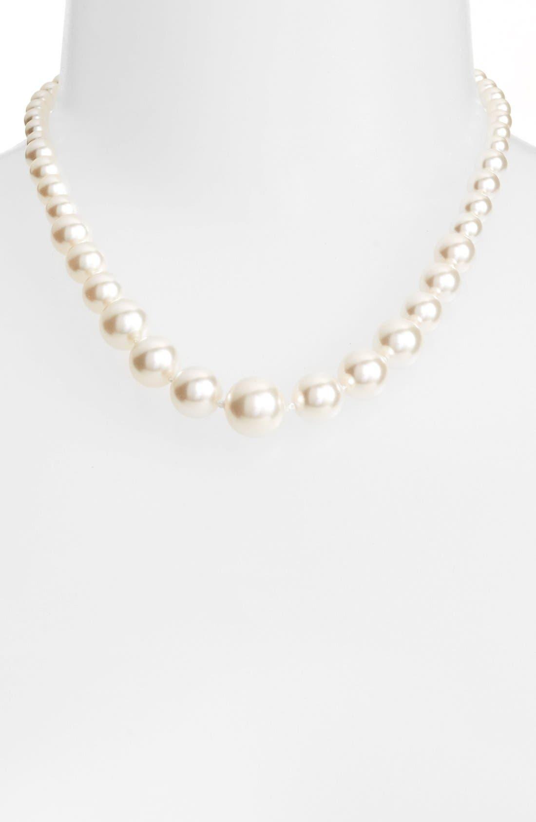 Alternate Image 1 Selected - Nadri Graduated Imitation Pearl Necklace