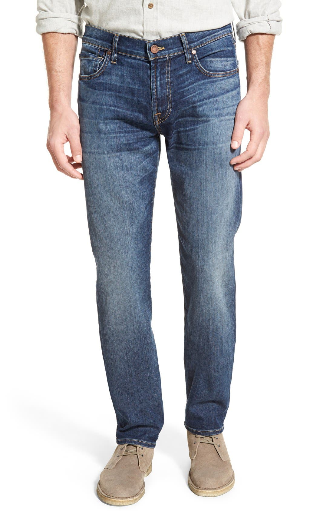 Main Image - 7 For All Mankind® 'Slimmy - Luxe Performance' Slim Fit Jeans (Air Weft Commotion)