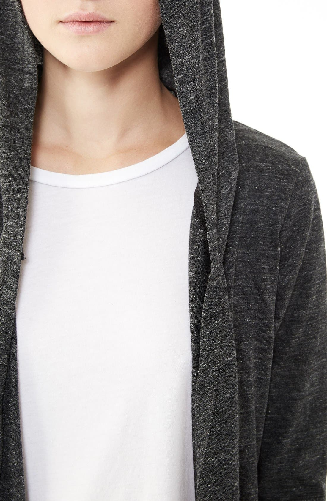 Hooded Jersey Wrap,                             Alternate thumbnail 3, color,                             Eco Black