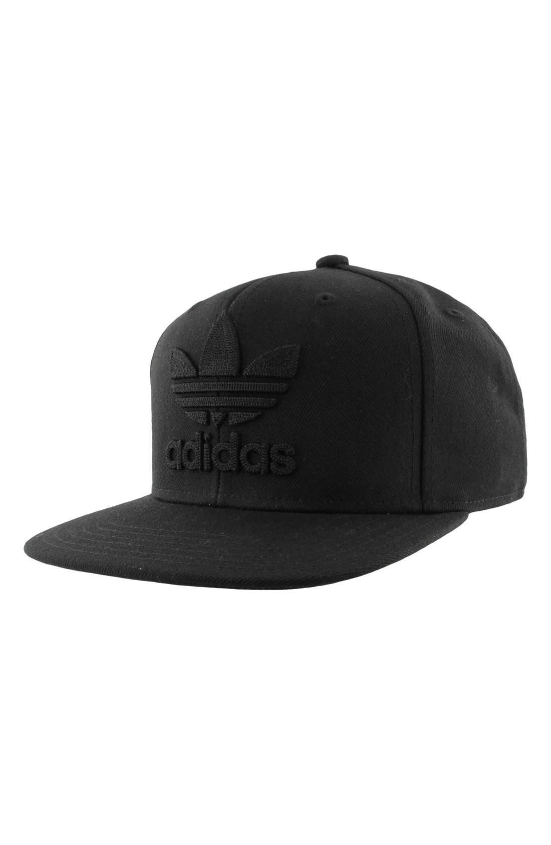 'Trefoil Chain' Snapback Cap,                         Main,                         color, Black/ Black