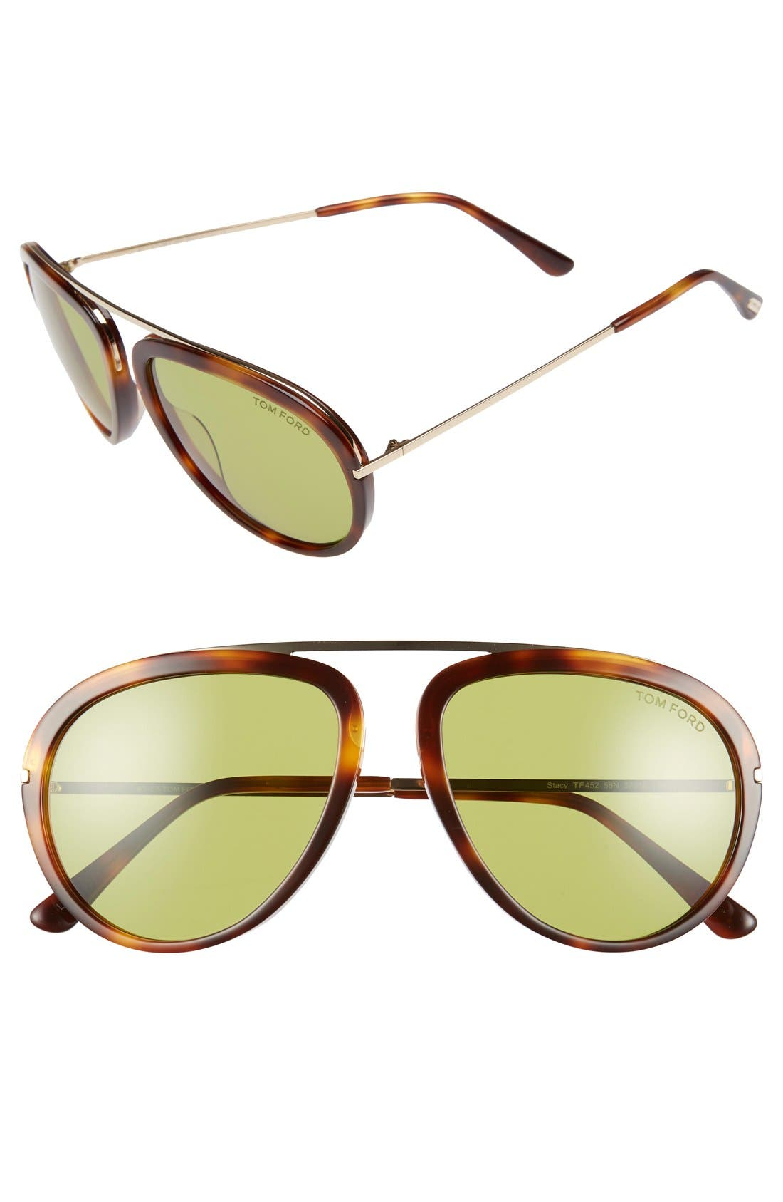 TOM FORD Stacy 57mm Sunglasses