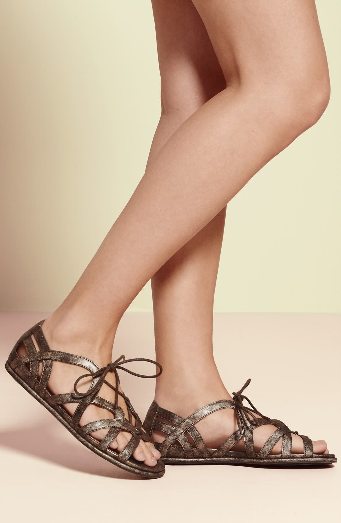 'Orly' Lace-Up Sandal,                             Alternate thumbnail 4, color,