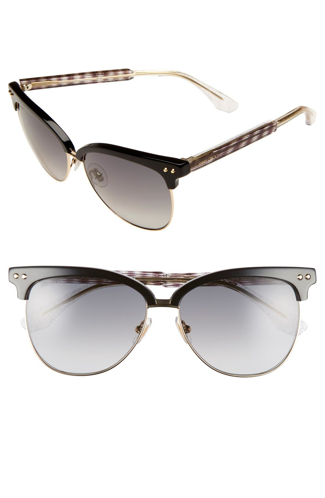 JIMMY CHOO Aryaya 57mm Retro Sunglasses