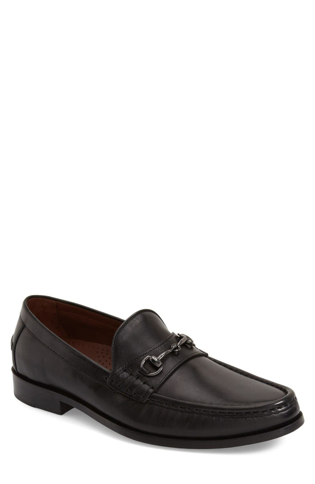 Pinch Gotham Bit Loafer,                             Main thumbnail 1, color,                             Black Leather