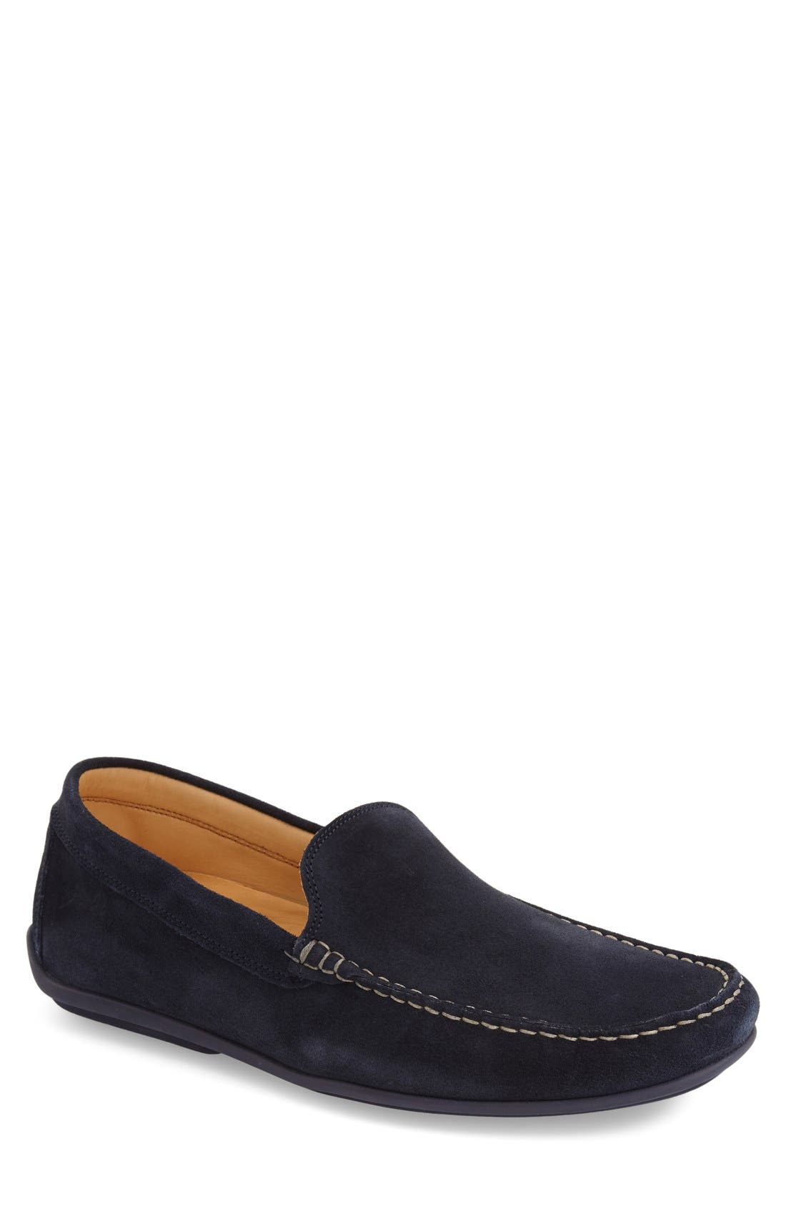 'Meridians' Loafer,                         Main,                         color, Navy Suede