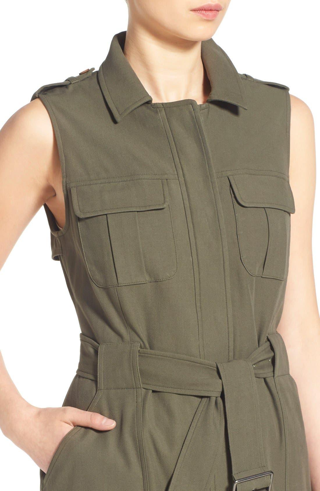 Alternate Image 5  - Olivia Palermo + Chelsea28 Long Military Vest
