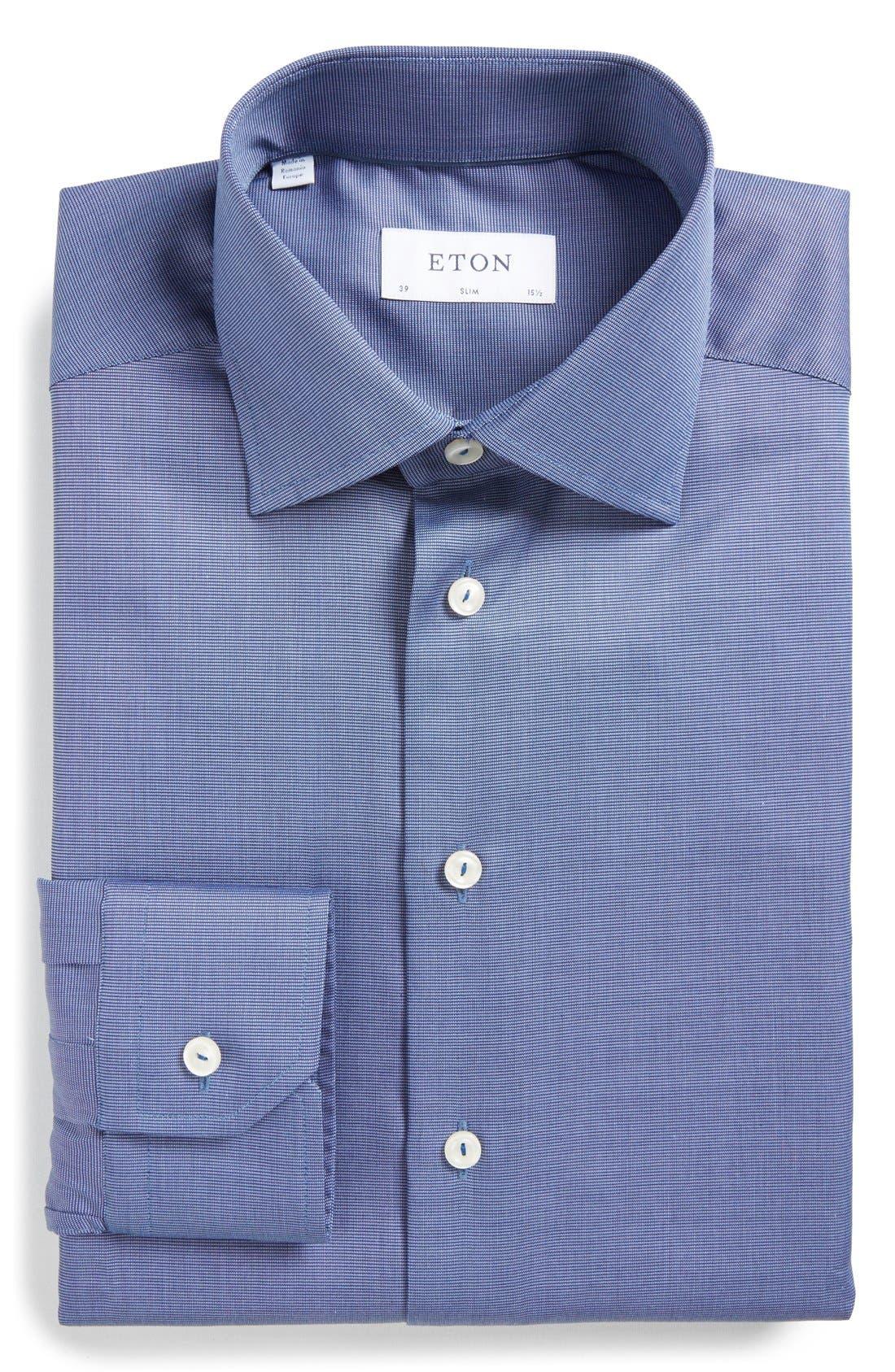 Main Image - Eton Slim Fit Solid Dress Shirt