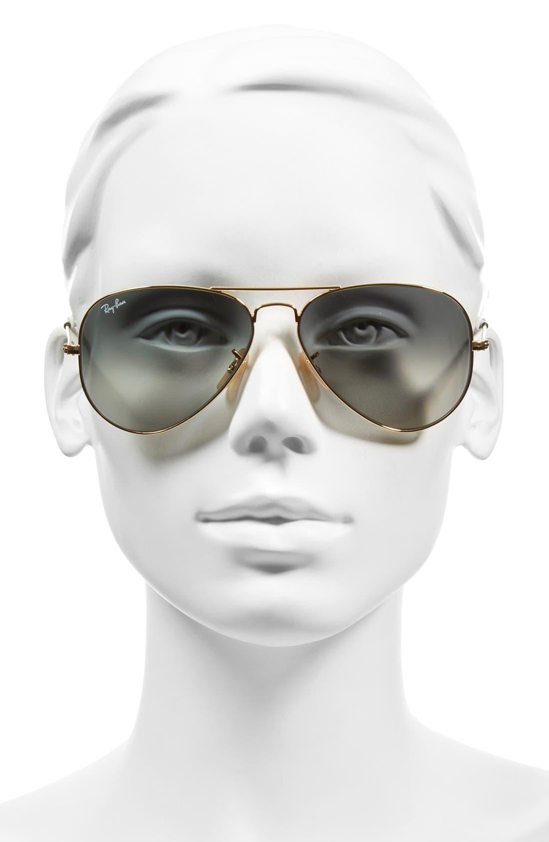 Alternate Image 3  - Ray-Ban Standard Original 58mm Aviator Sunglasses