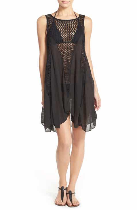 990d043b42 Elan Crochet Inset Cover-Up Dress