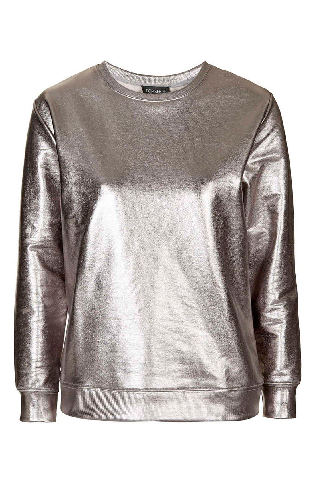 Alternate Image 4  - Topshop 'Luxe' Foiled Sweatshirt