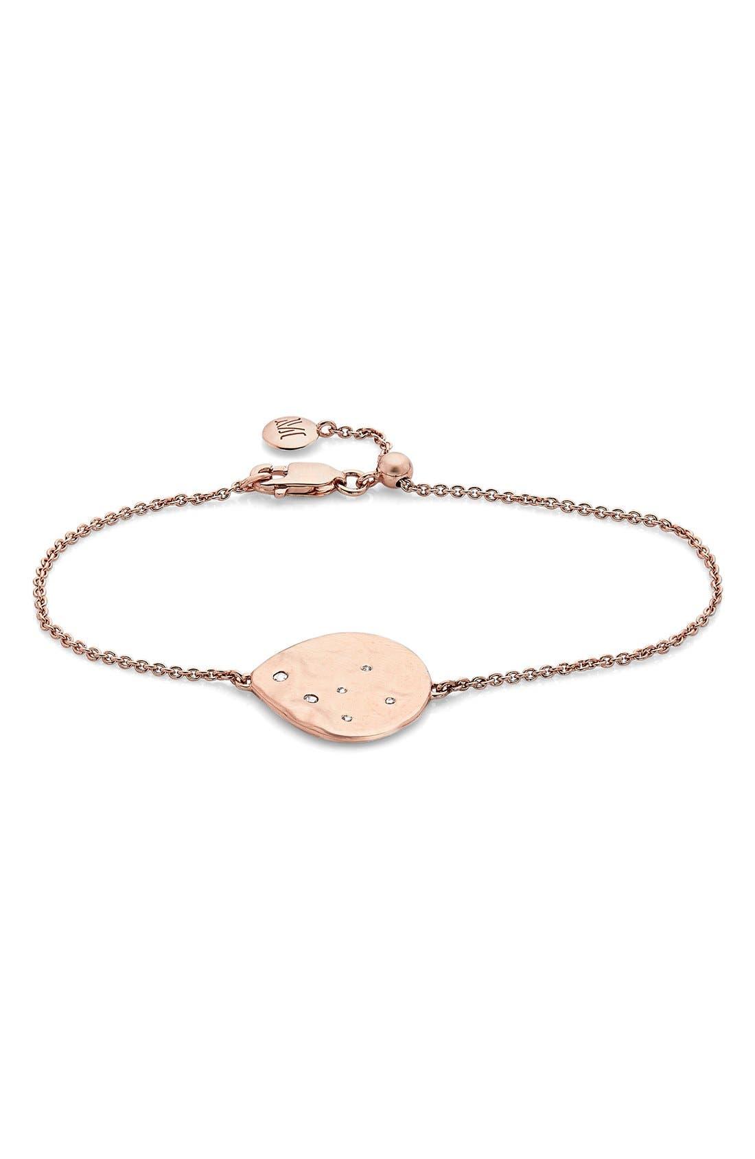 'Siren Scatter' Bracelet,                             Main thumbnail 1, color,                             White Topaz/ Rose Gold