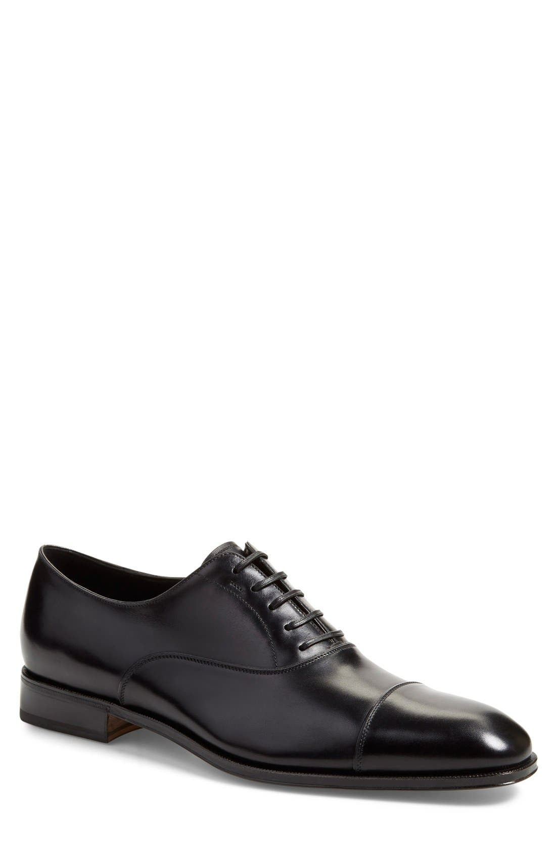 Salvatore Ferragamo Cap Toe Oxford
