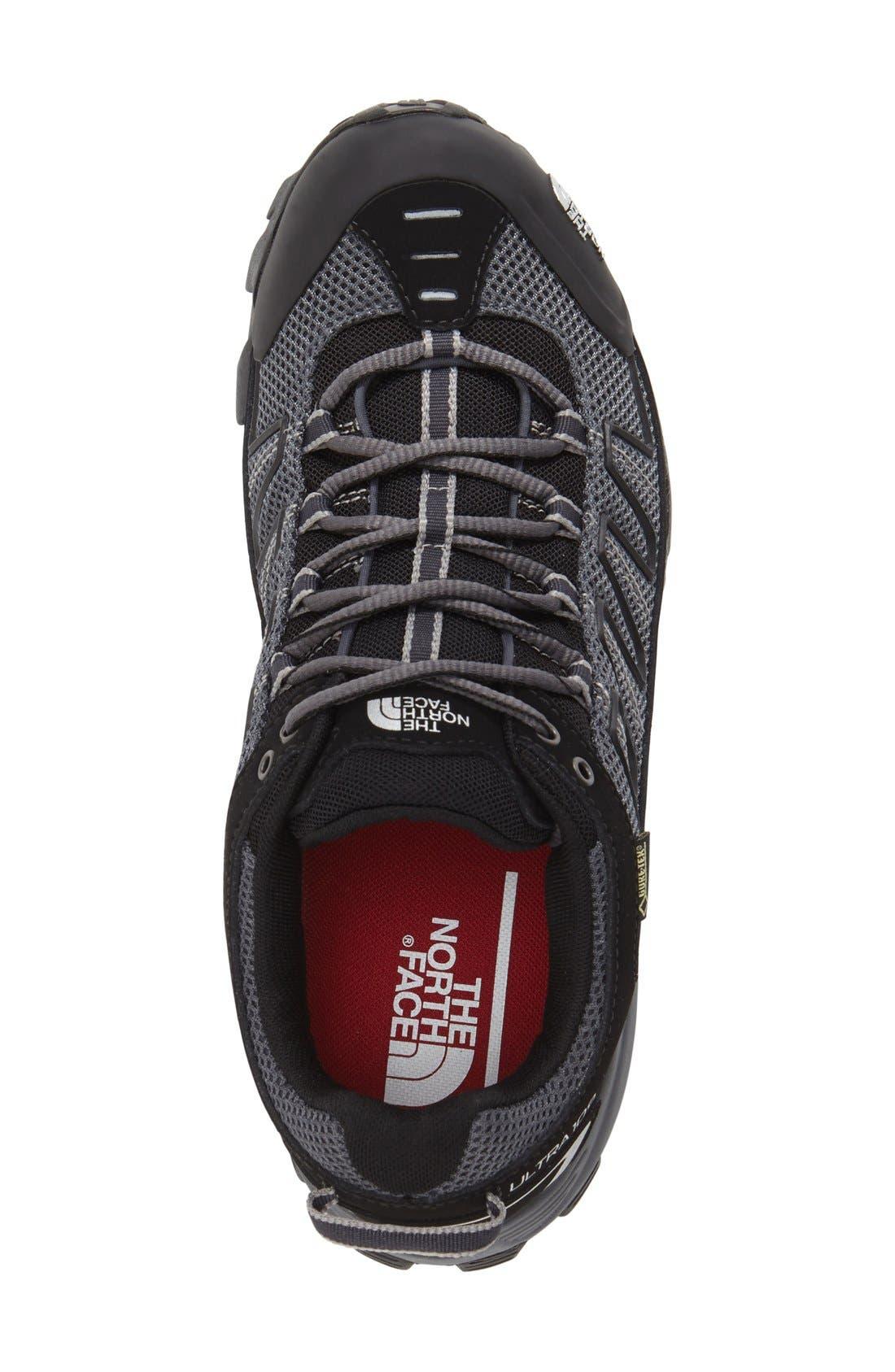 'Ultra 109 GTX' Waterproof Running Shoe,                             Alternate thumbnail 3, color,                             Black/ Dark Shadow Grey