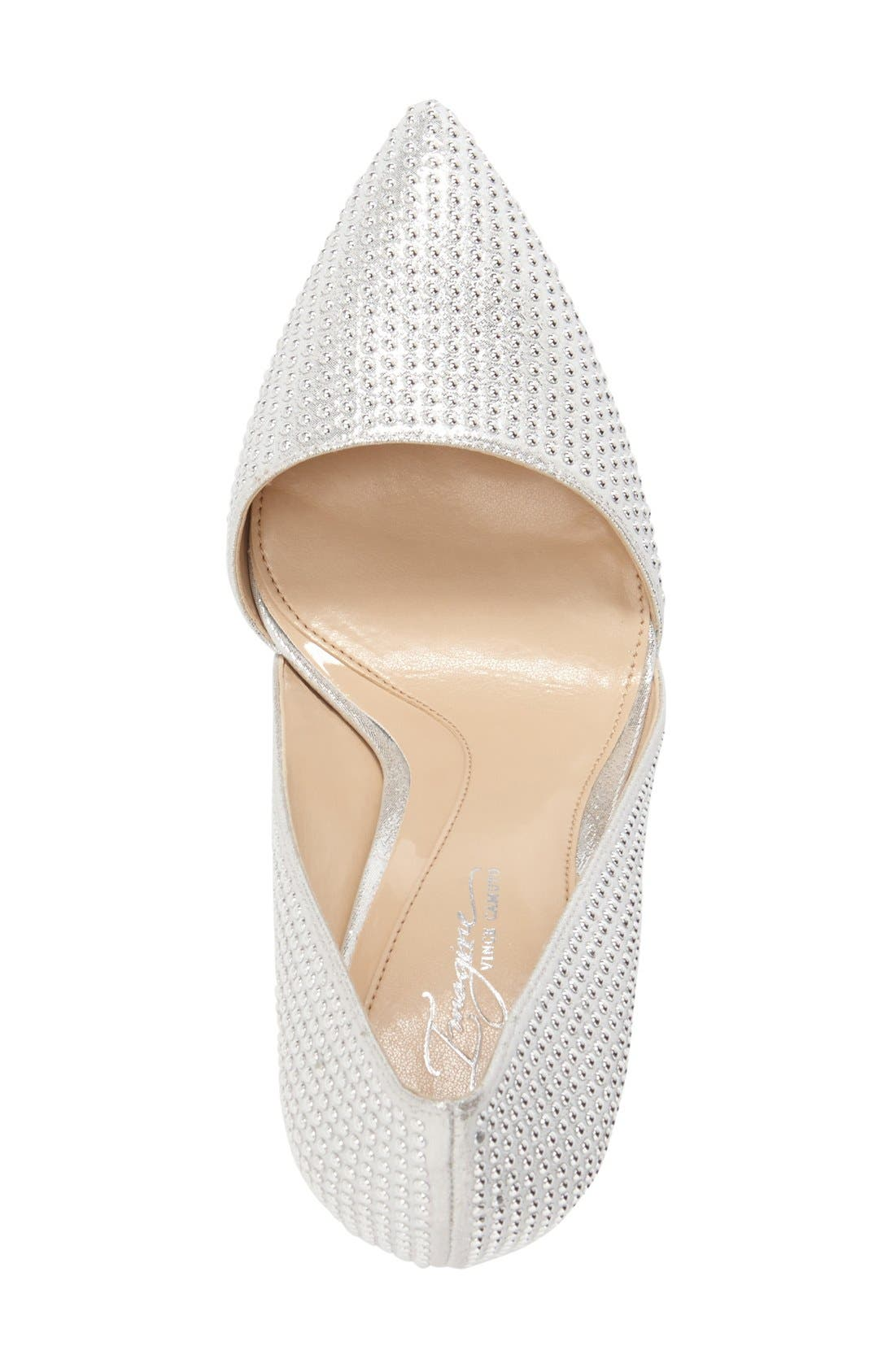 Imagine Vince Camuto 'Ossie' d'Orsay Pump,                             Alternate thumbnail 3, color,                             Platinum Shimmer