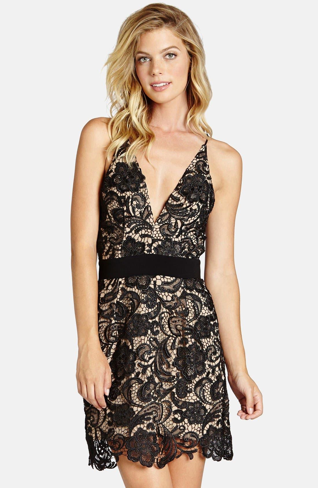 Main Image - Dress the Population Ava Lace Minidress