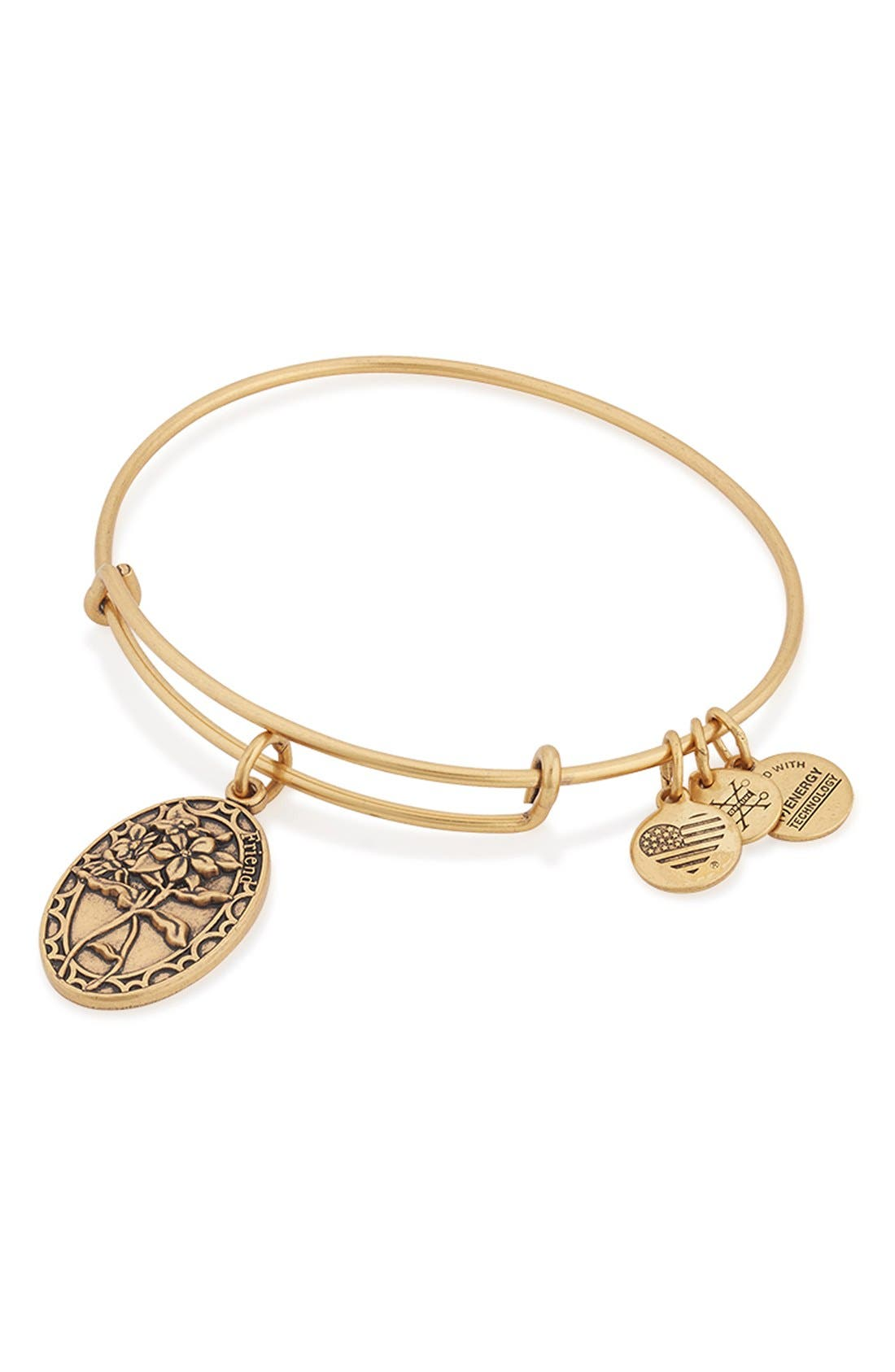 Alternate Image 2  - Alex and Ani 'I Love You Friend' Expandable Wire Bangle