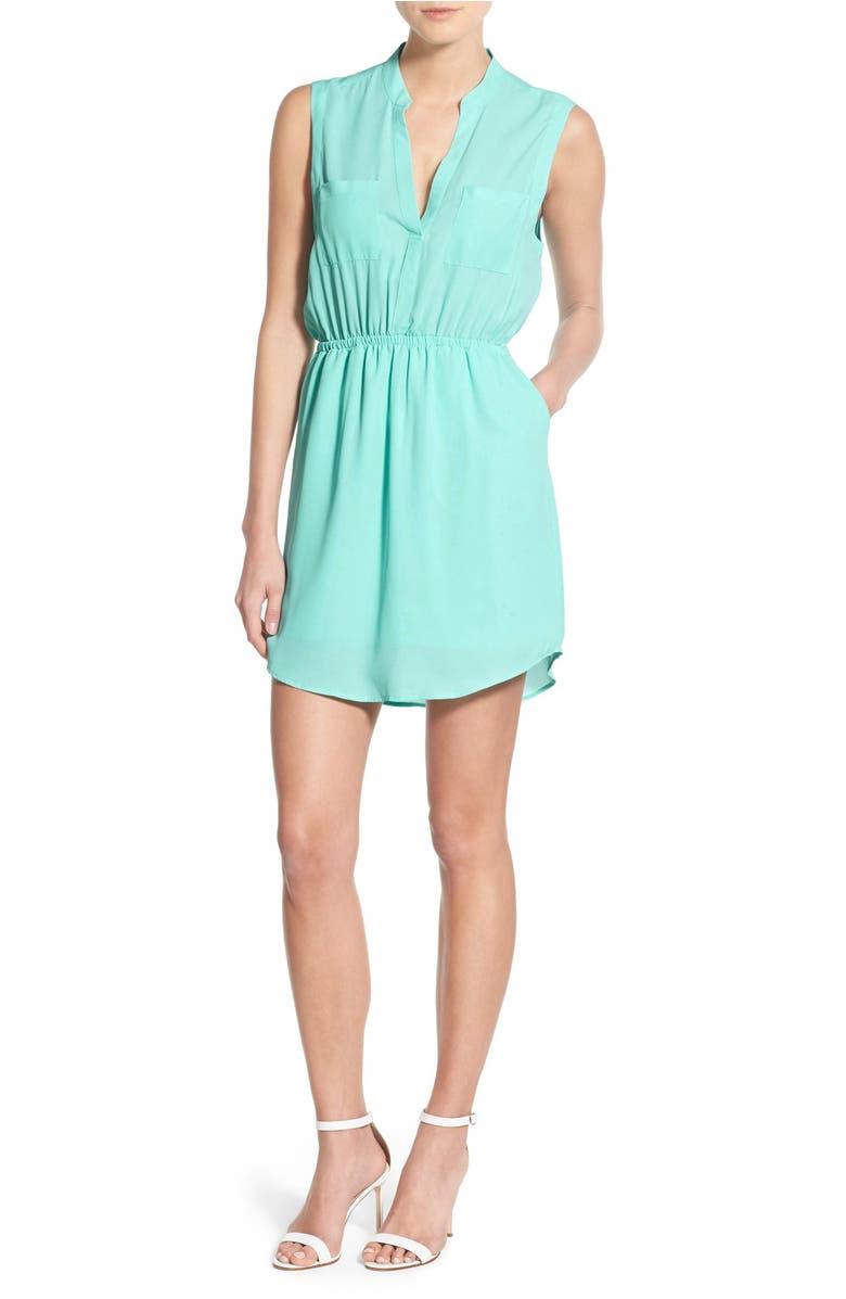 Cupcakes And Cashmere Kellen Chiffon Shirtdress Nordstrom Dress