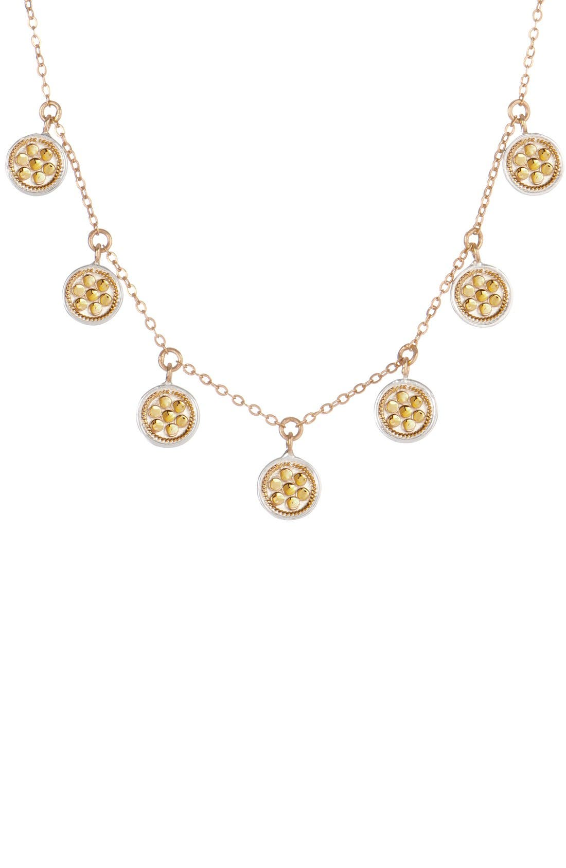 'Gili' Charm Necklace,                         Main,                         color, Gold