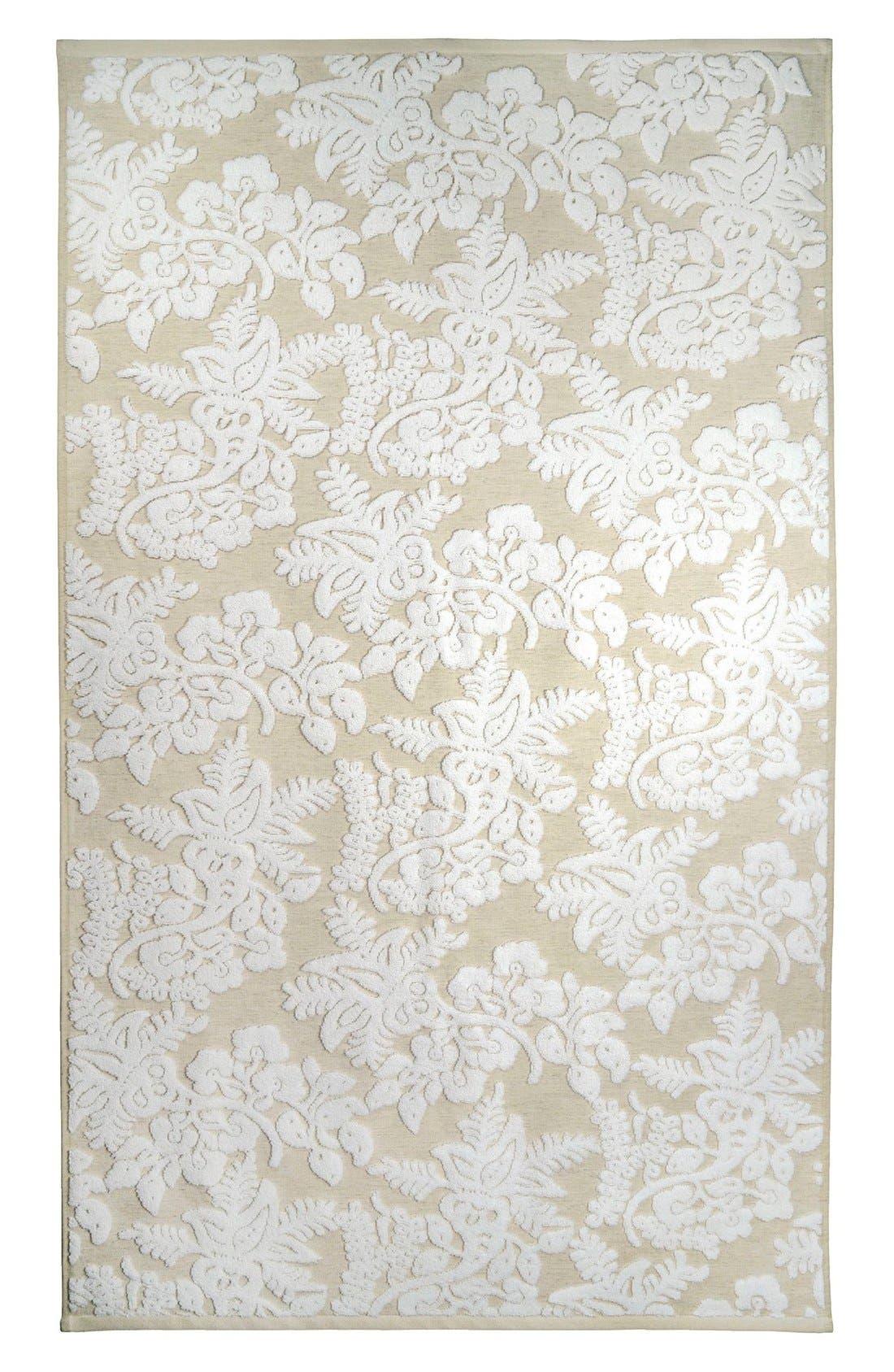 'Pasak' Bath Towel,                             Main thumbnail 1, color,                             Linen/ White