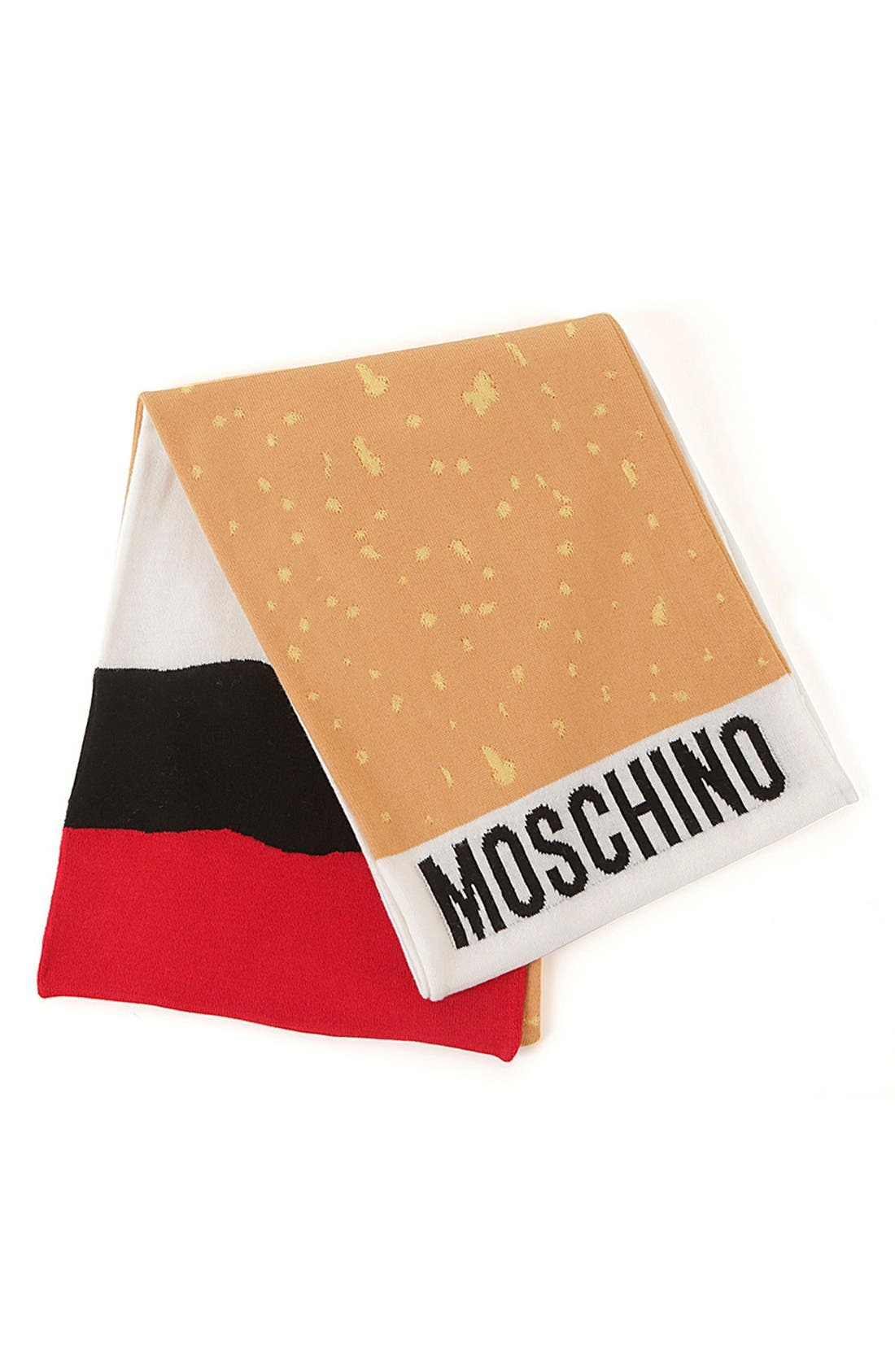 Main Image - Moschino 'It's Lit' Knit Scarf