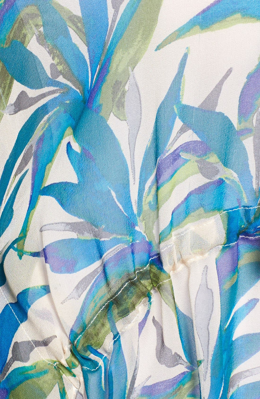 Alternate Image 4  - Ella Moss Print Silk Tunic Top