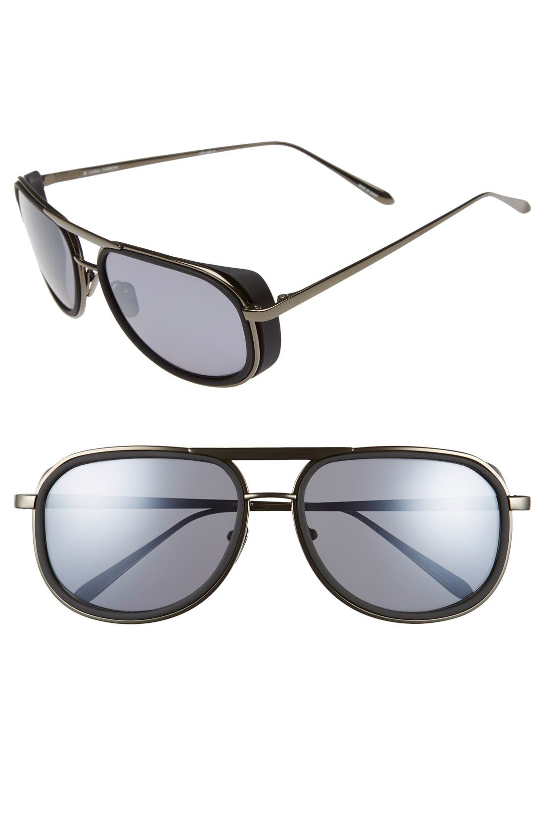 Main Image - Linda Farrow 58mm Sunglasses