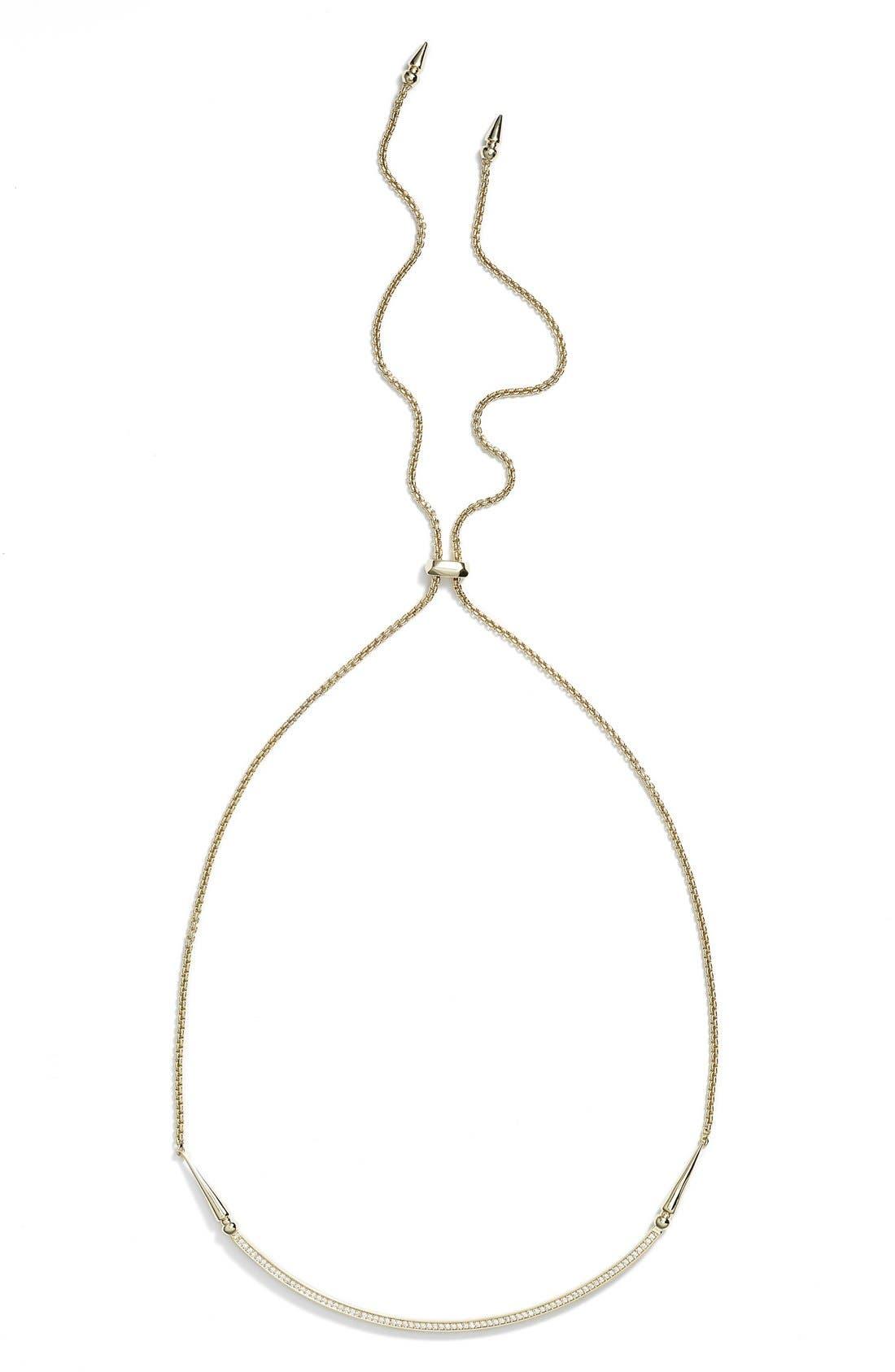 'Scottie' Pendant Necklace,                             Alternate thumbnail 3, color,                             Gold