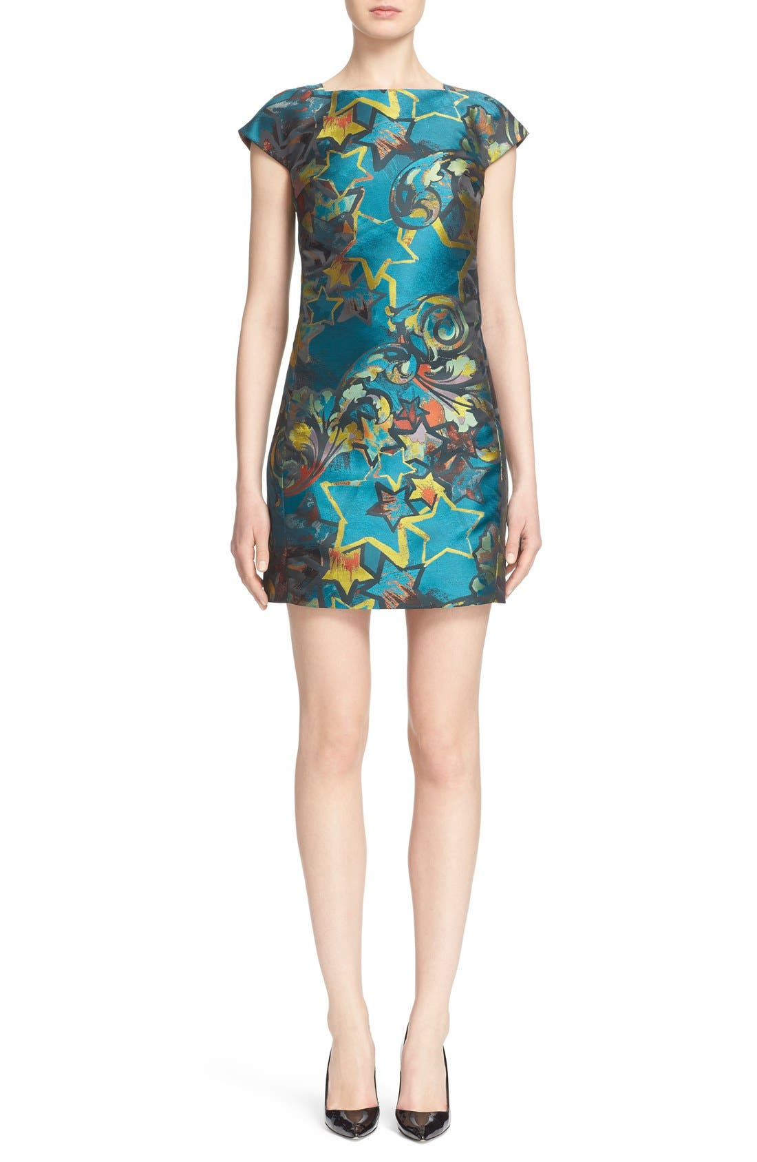 Alternate Image 1 Selected - Versace Collection Jacquard Dress