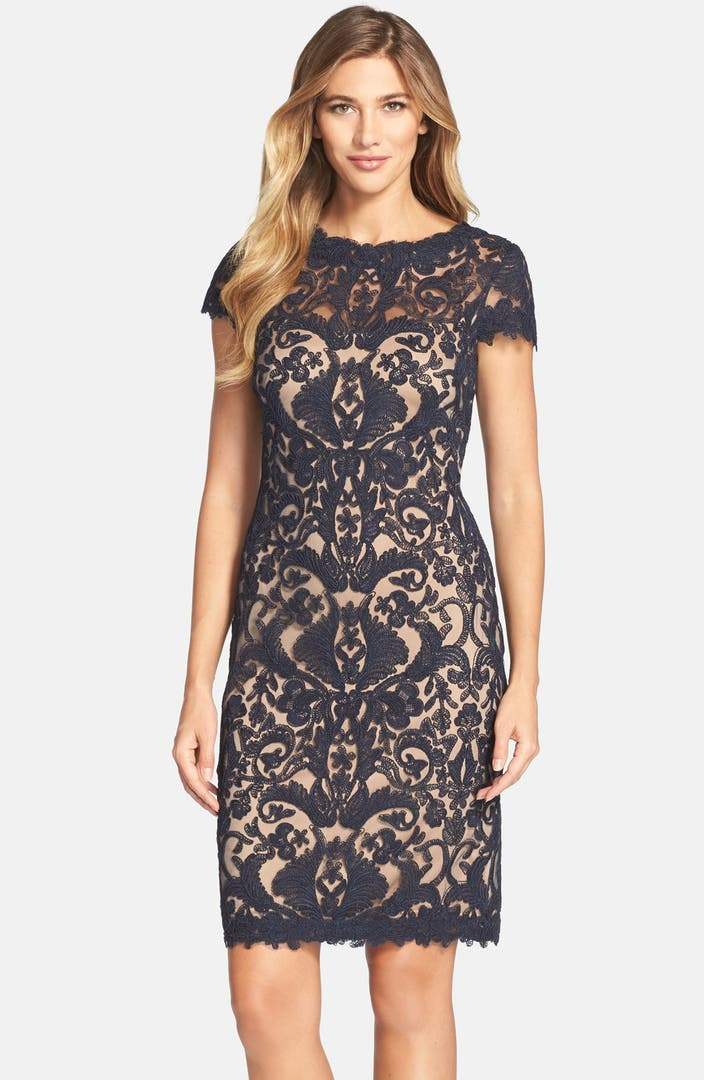 Nordstrom: Tadashi Shoji Illusion Yoke Lace Sheath Dress (Regular
