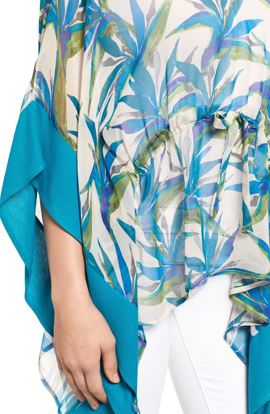 Alternate Image 5  - Ella Moss Print Silk Tunic Top