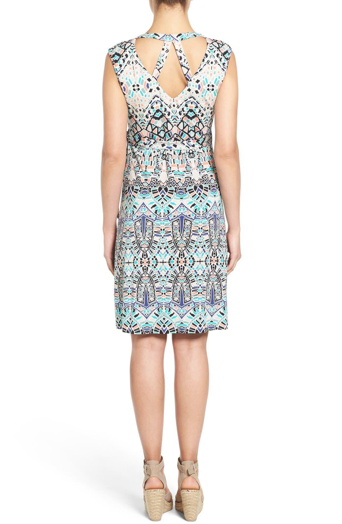 'Charmaine' Print Jersey Maternity Wrap Dress,                             Alternate thumbnail 2, color,                             Ink Tiles
