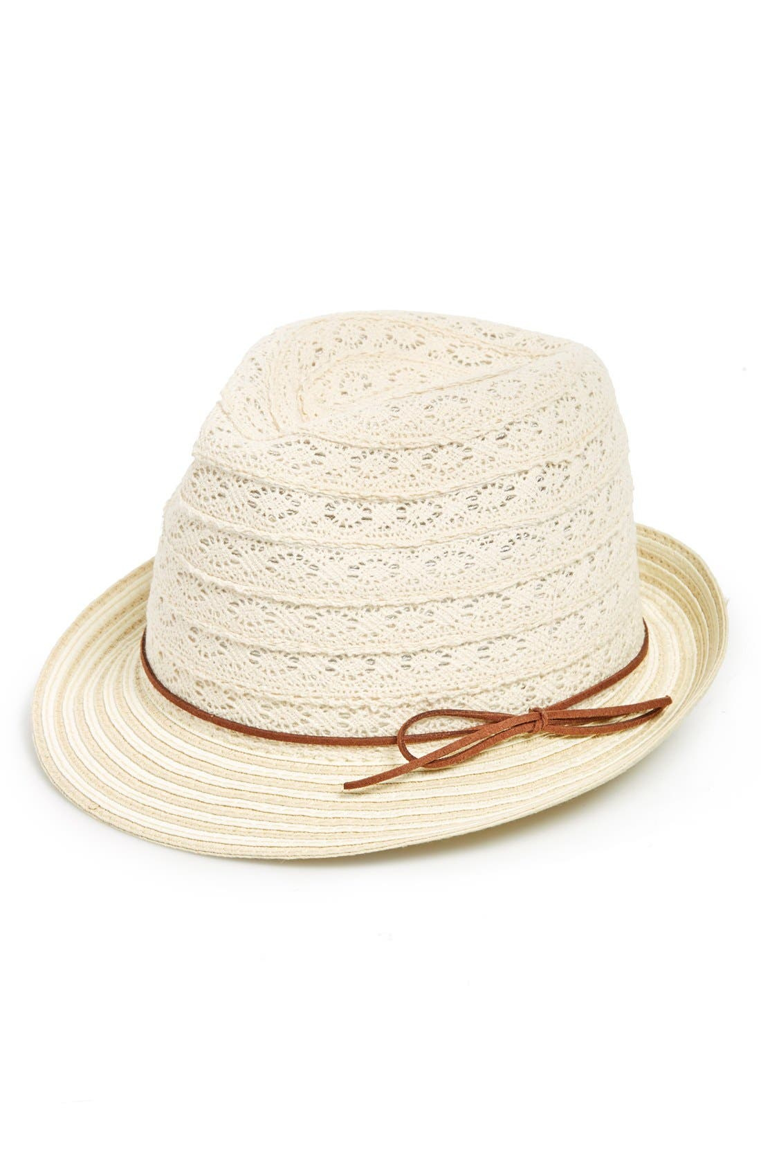 Alternate Image 1 Selected - Phase 3 Lace & Straw Trilby Hat