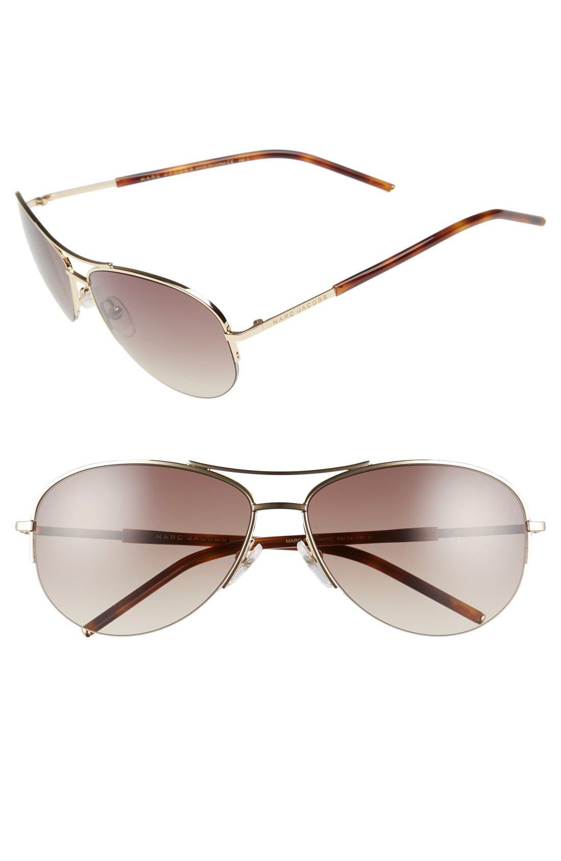 Main Image - MARC JACOBS 59mm Semi Rimless Sunglasses