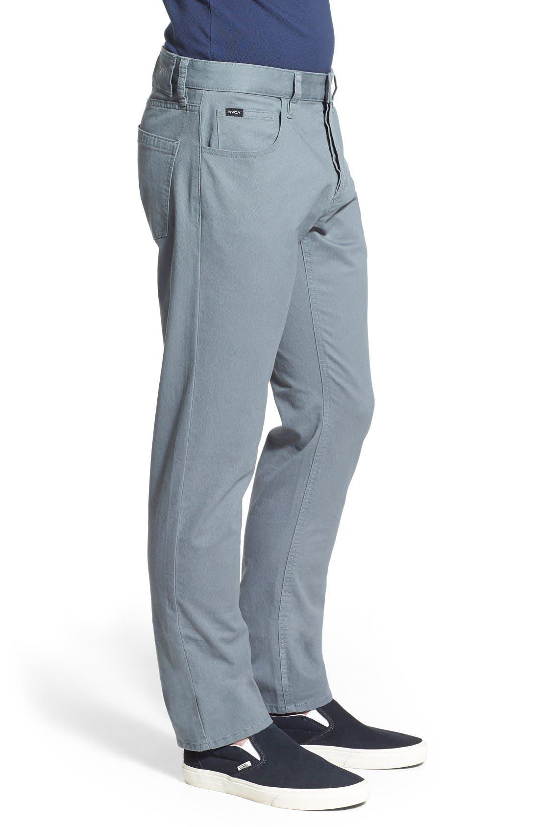 Alternate Image 3  - RVCA 'Stay RVCA' Slim Straight Pants (Online Only)