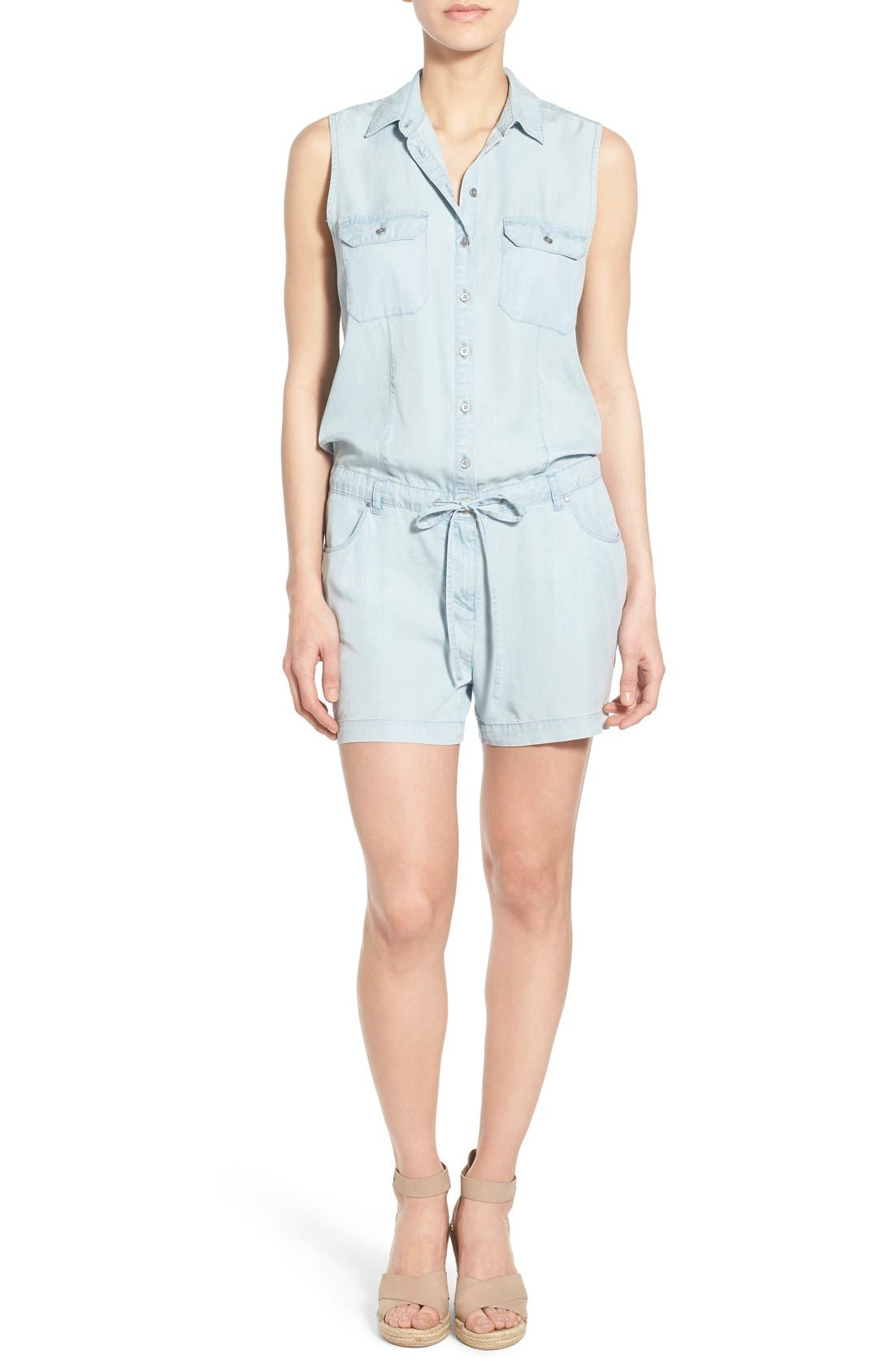 Alternate Image 1 Selected - KUT from the Kloth 'Valentina' Denim Romper
