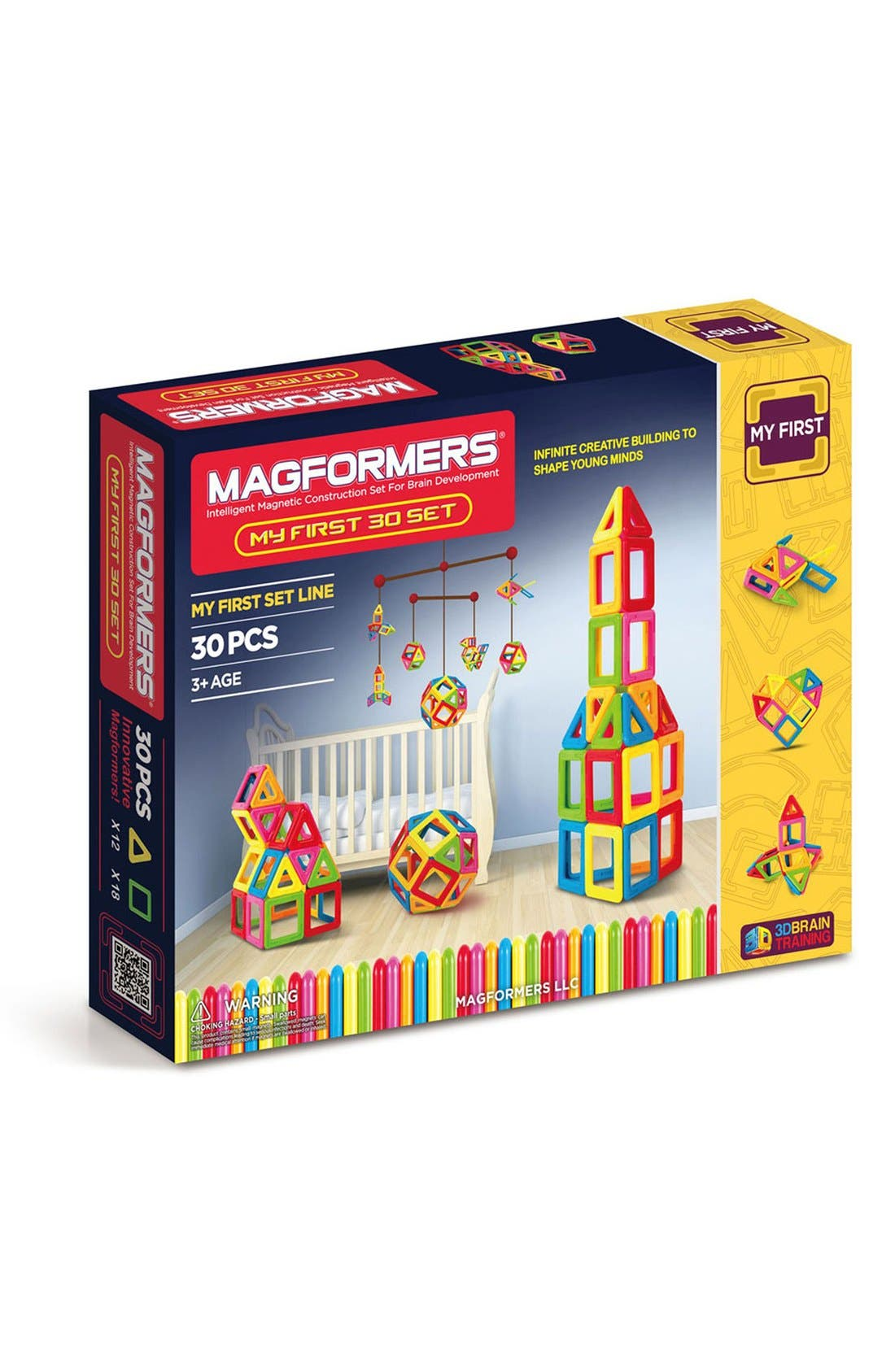 'My First' Magnetic 3D Construction Set,                             Main thumbnail 1, color,                             Opaque Rainbow