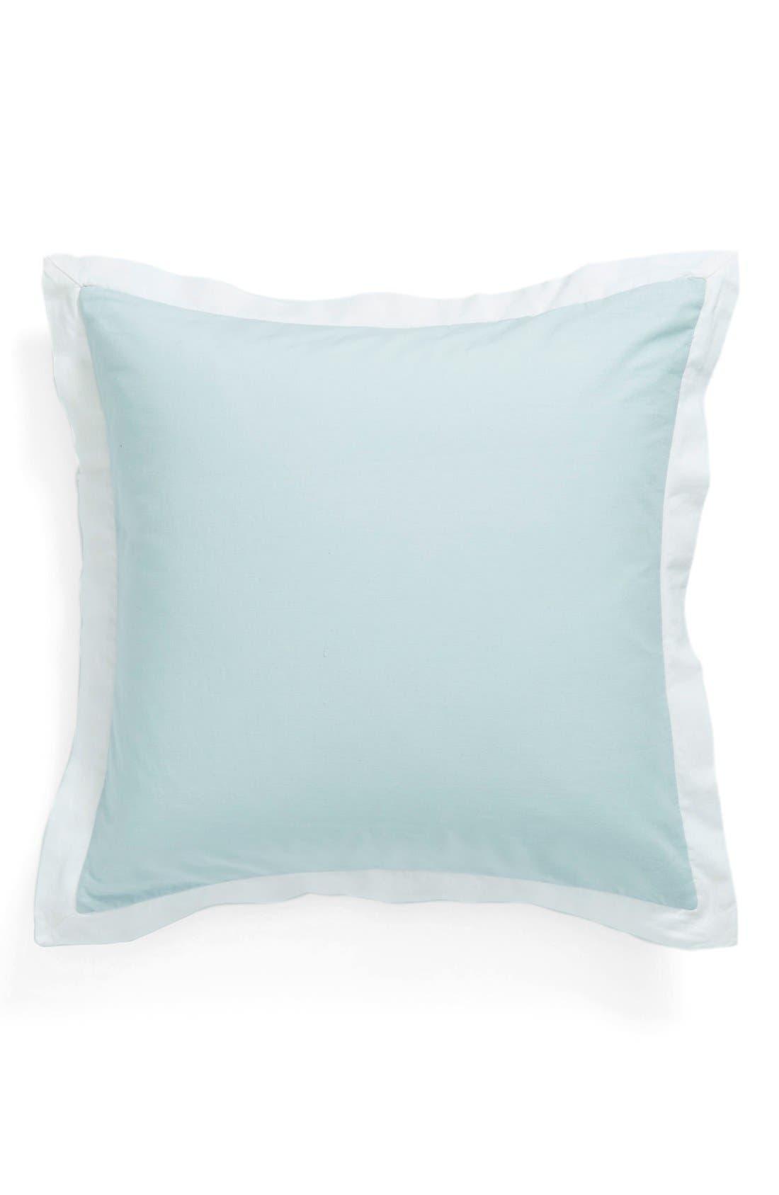 'Spa' Washed Linen Euro Sham,                             Main thumbnail 1, color,                             Blue