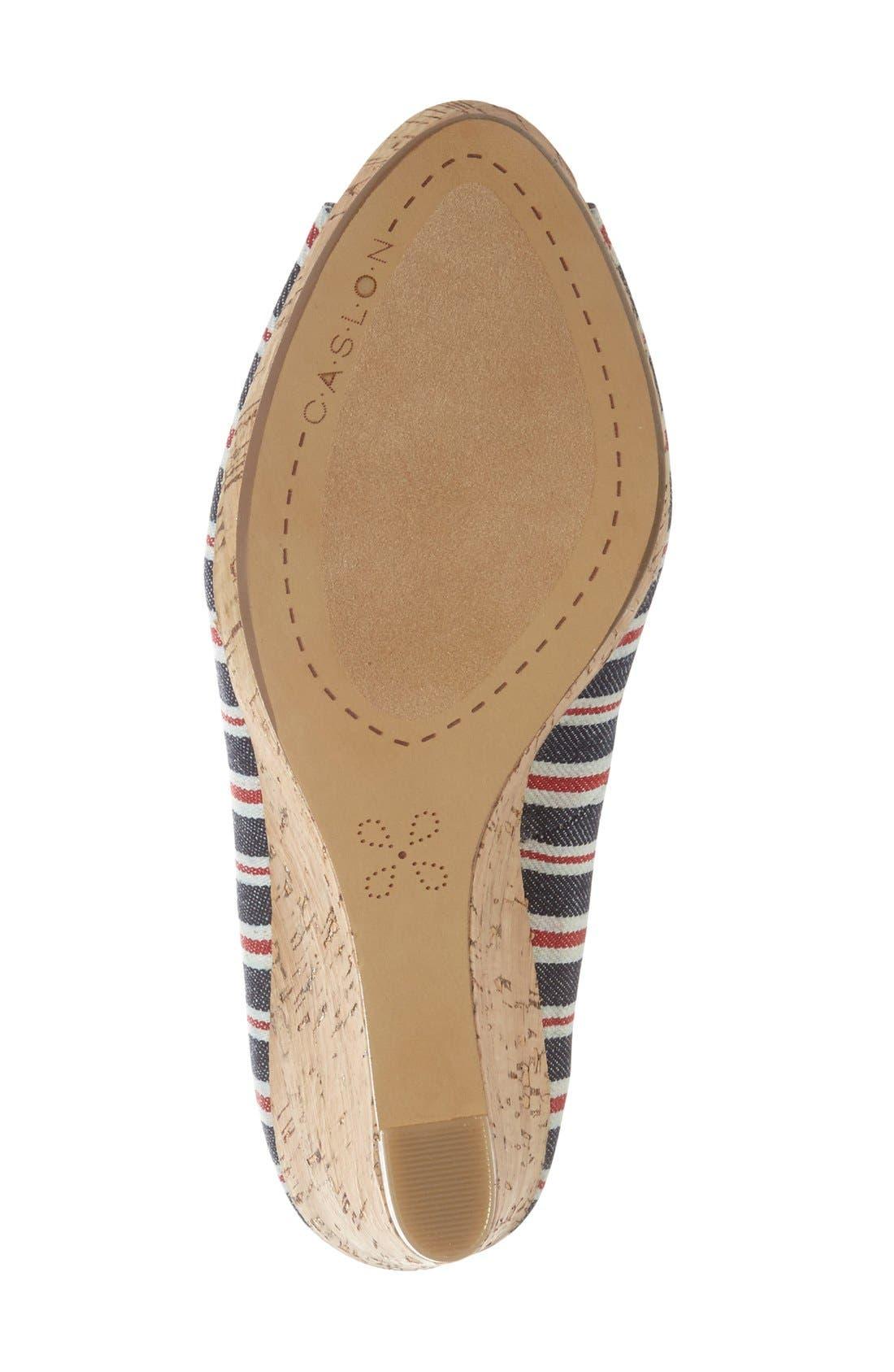 Alternate Image 4  - Caslon® 'Devin' Peep Toe Wedge (Women)