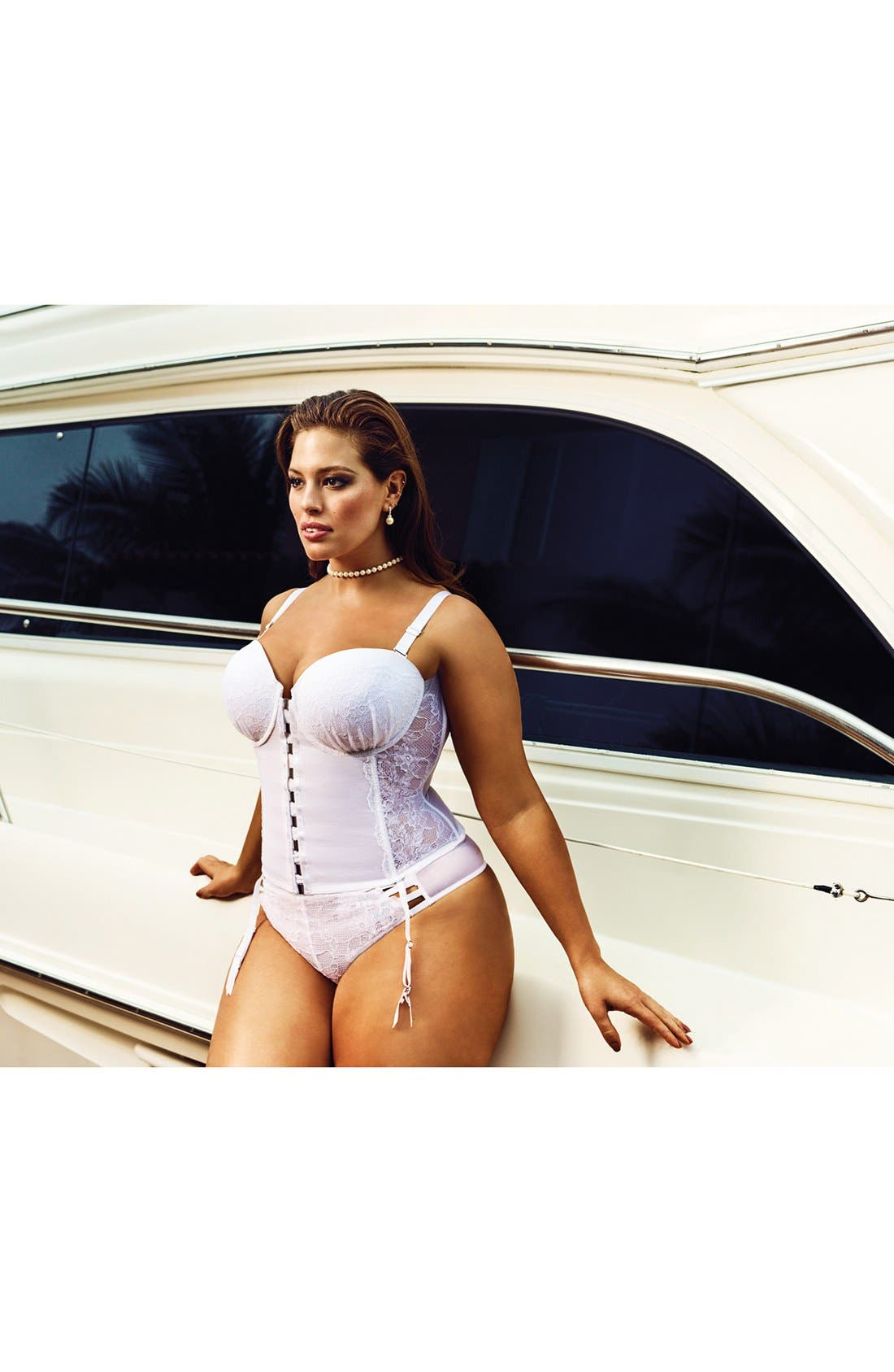 Alternate Image 6  - Ashley Graham 'Dreamer' Convertible Underwire Bustier (Plus Size)