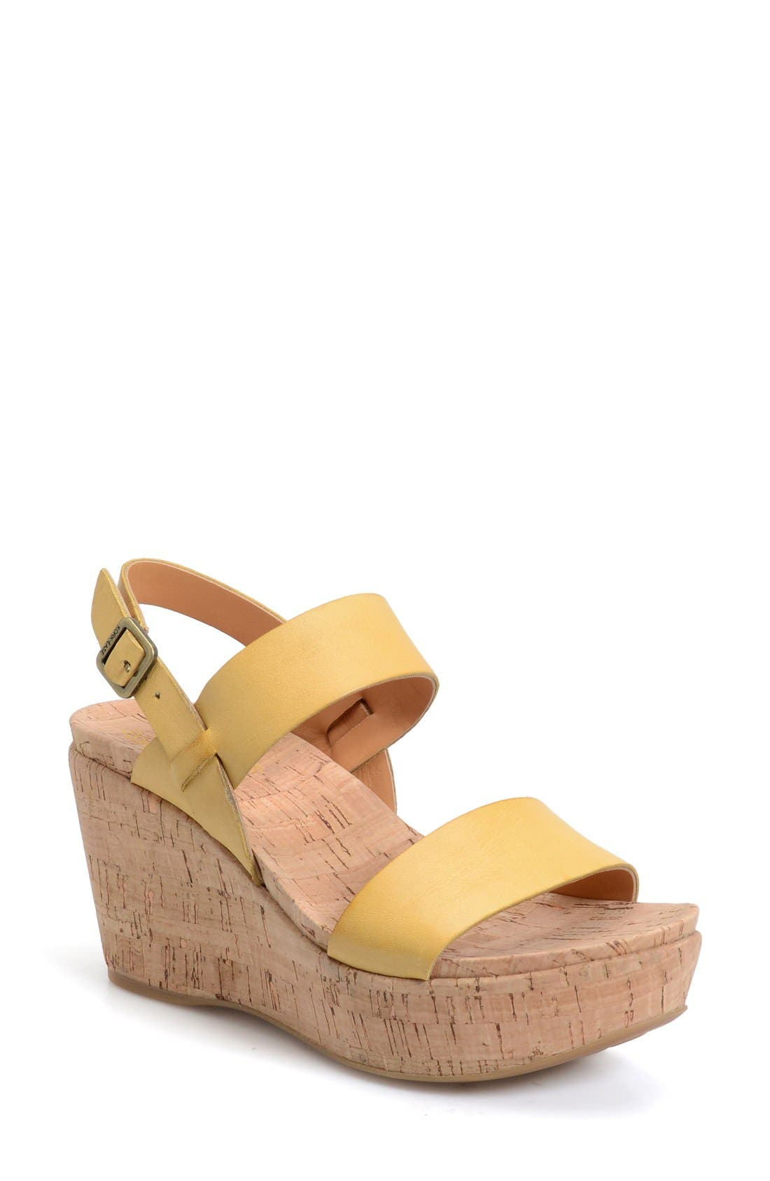 Alternate Image 1 Selected - Kork-Ease® 'Austin' Slingback Wedge Sandal (Women)