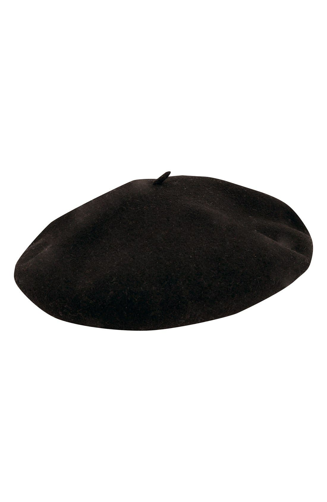 'Basque' Beret,                             Main thumbnail 1, color,                             Black