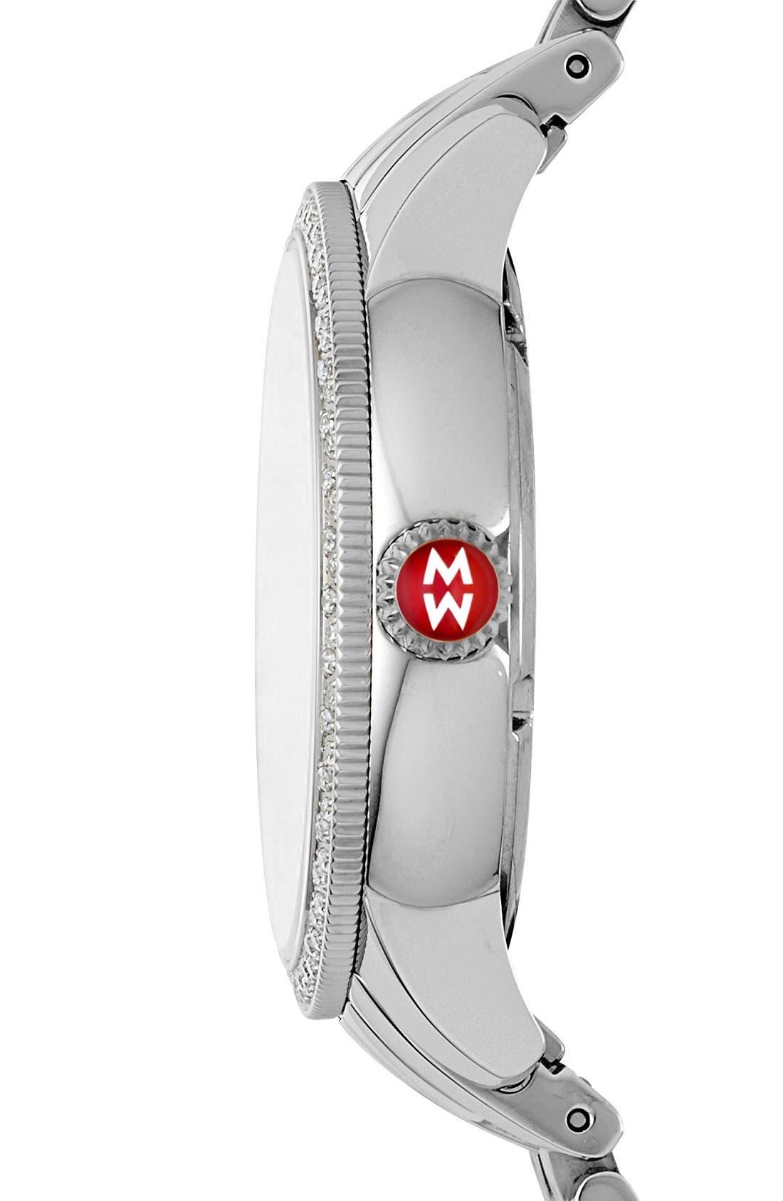 Alternate Image 3  - MICHELE 'Harbor Diamond' Watch with Bracelet, 35mm
