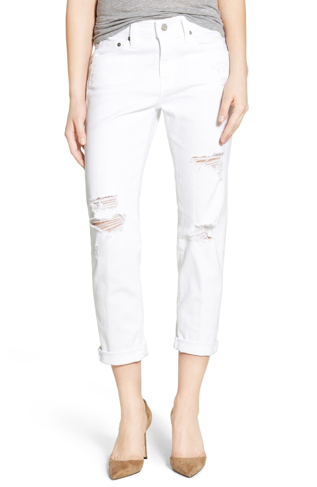 AG 'The Ex-Boyfriend' Crop Slim Jeans