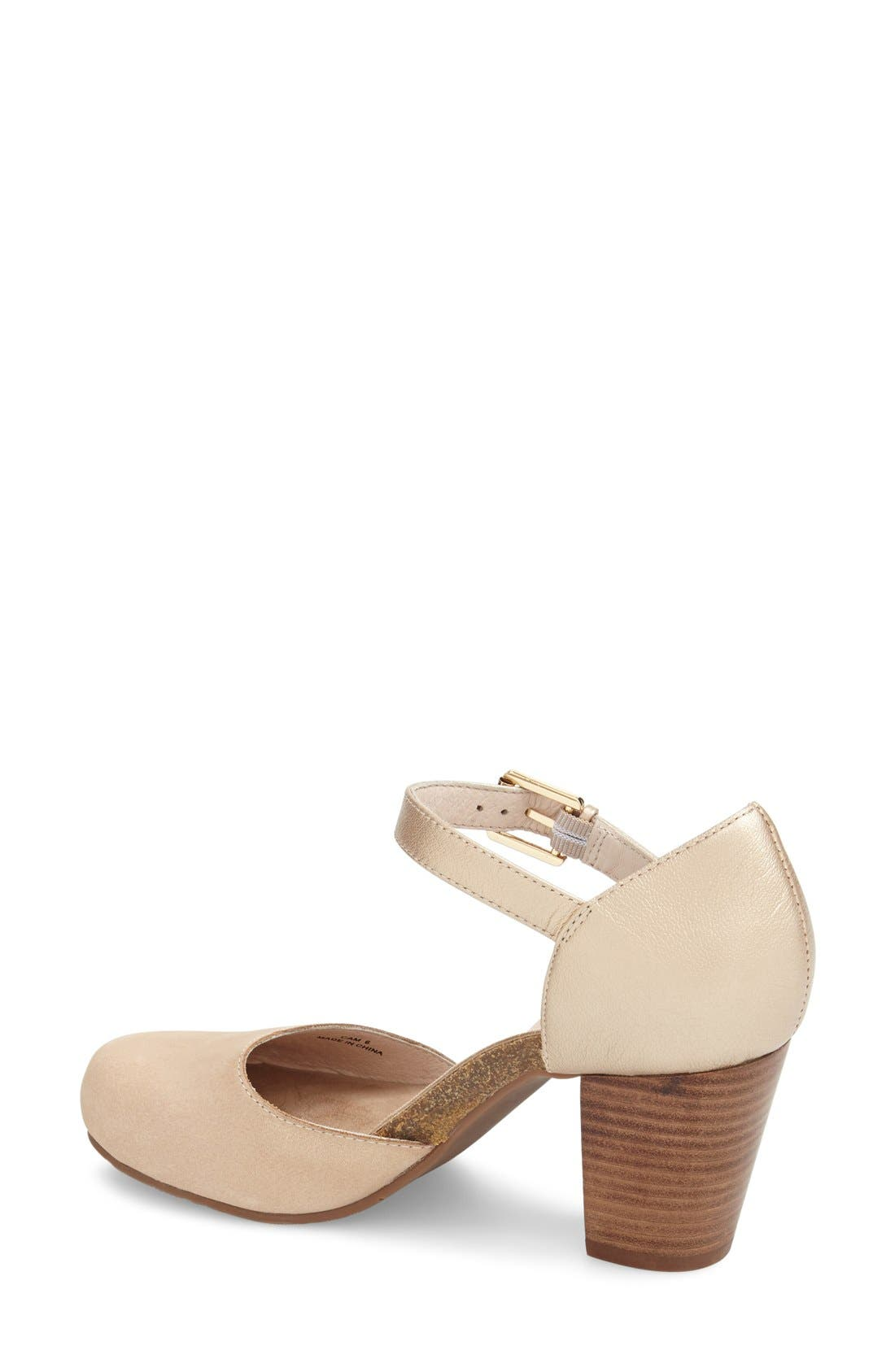 'Cam' Mary Jane Pump,                             Alternate thumbnail 2, color,                             Sand Leather