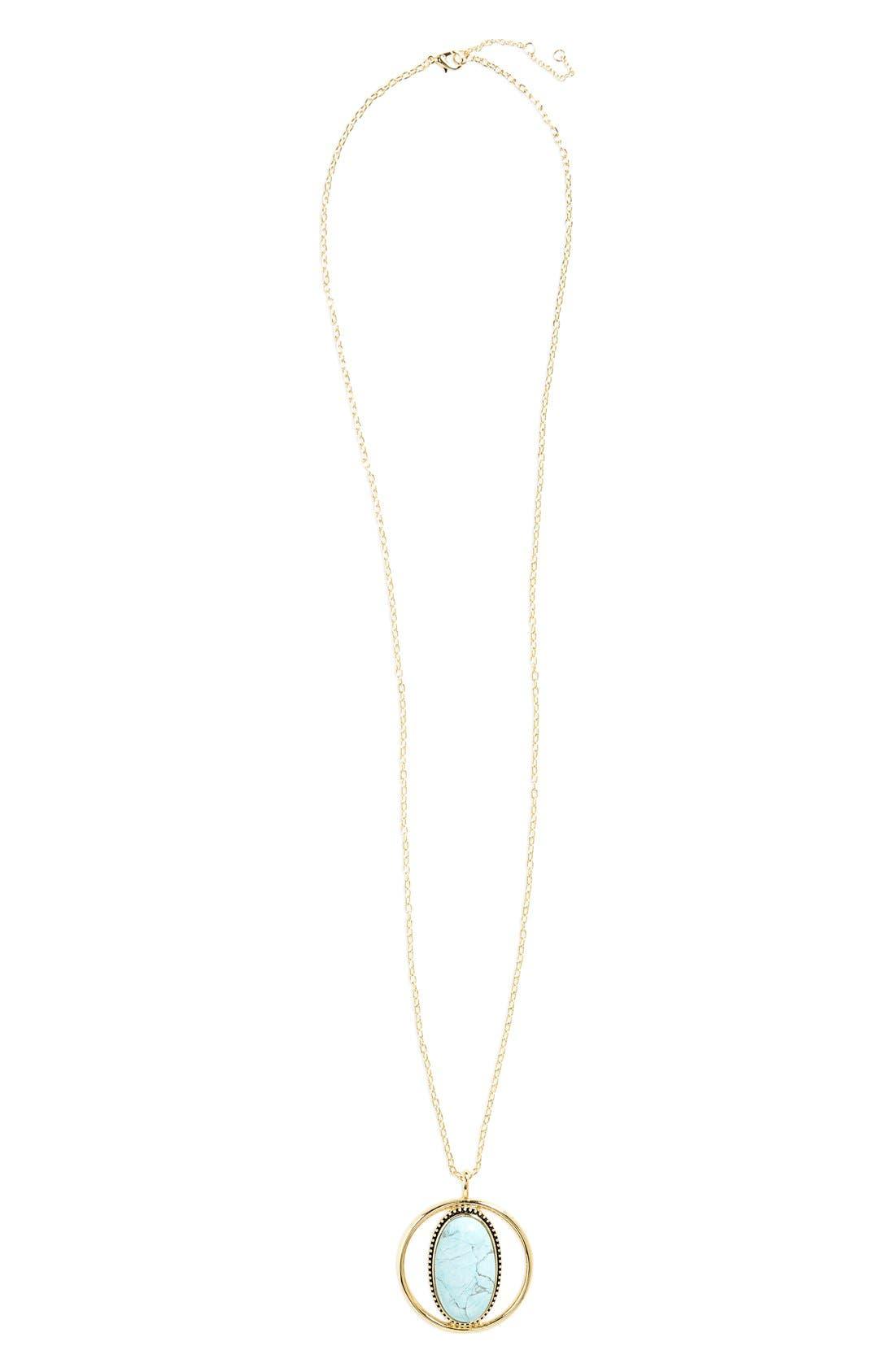 Main Image - BP. Oval Stone Pendant Necklace