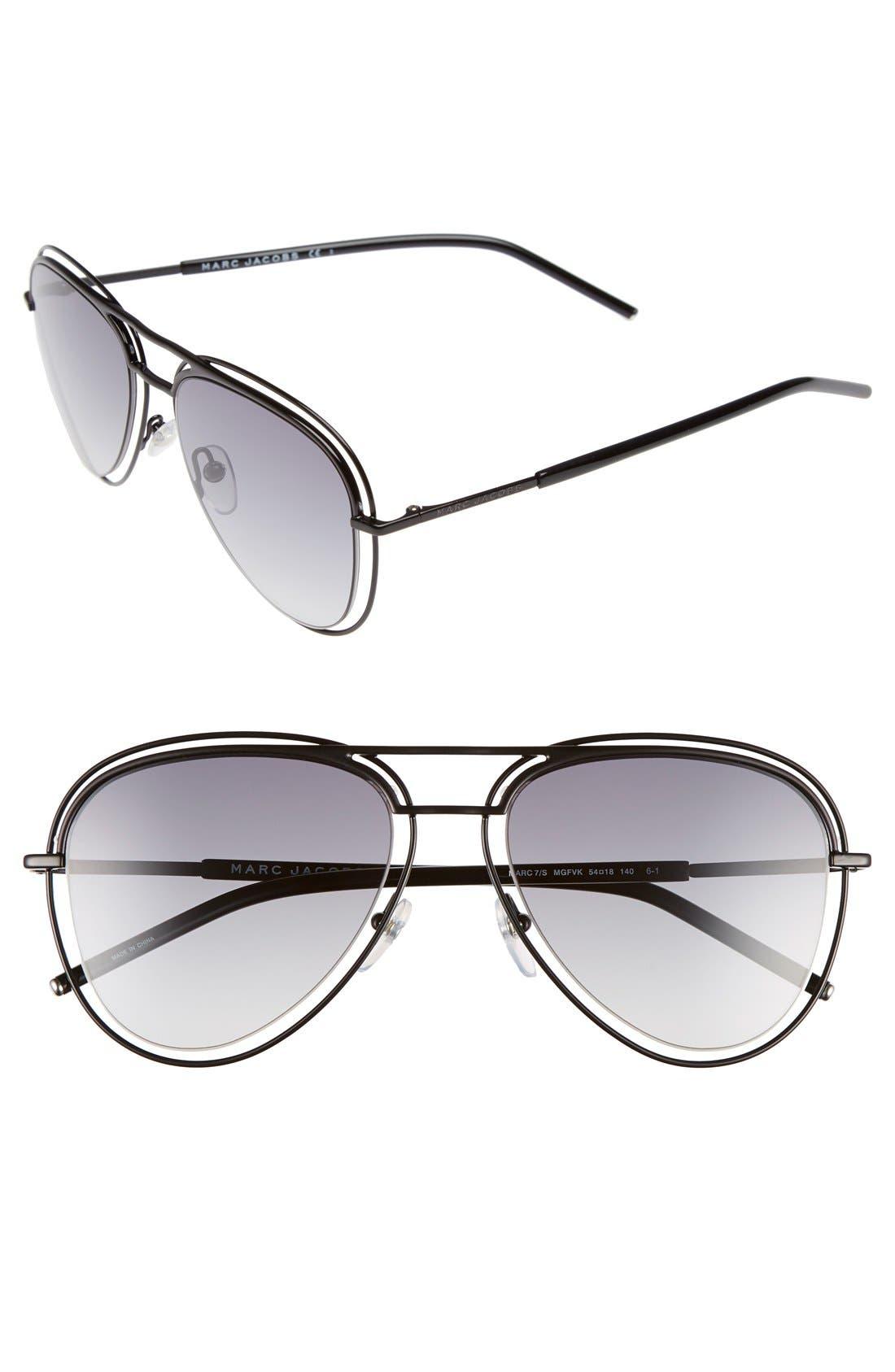 MARC JACOBS 54mm Aviator Sunglasses