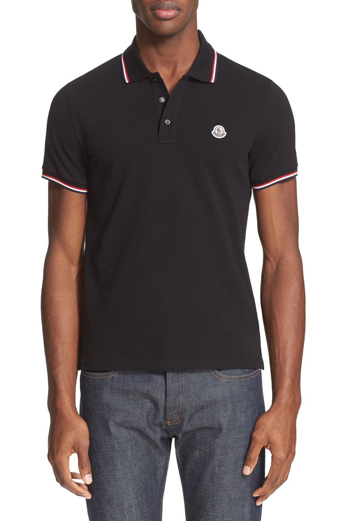 Moncler Tipped Cotton Piqué Polo
