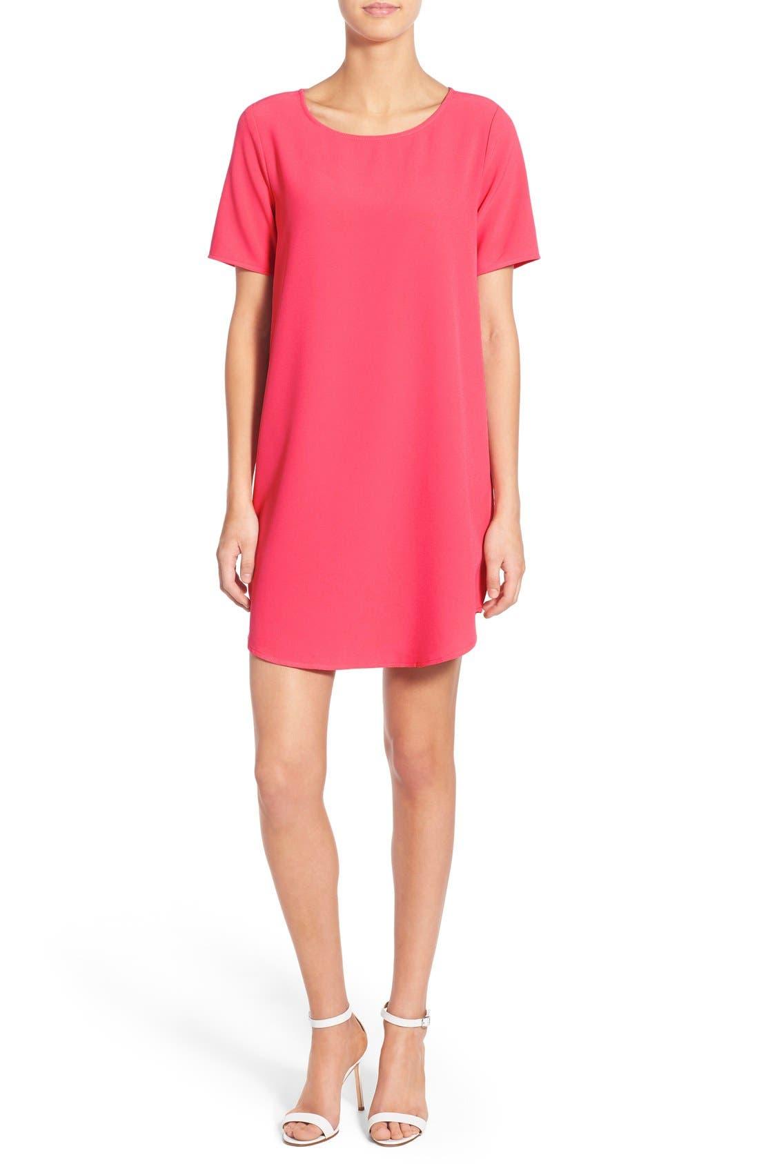 'Magnolia' Shift Dress,                         Main,                         color, Flamingo