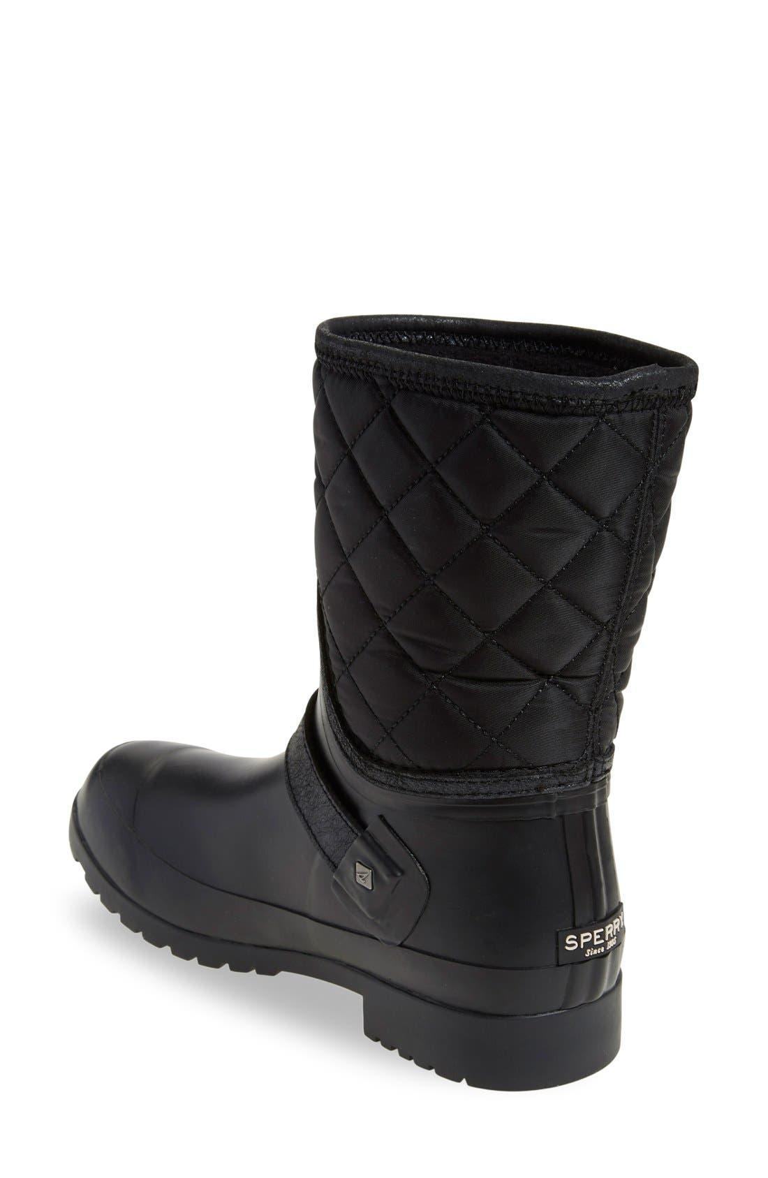 Alternate Image 2  - Sperry Walker Gray Nylon Quilt Boot (Women)